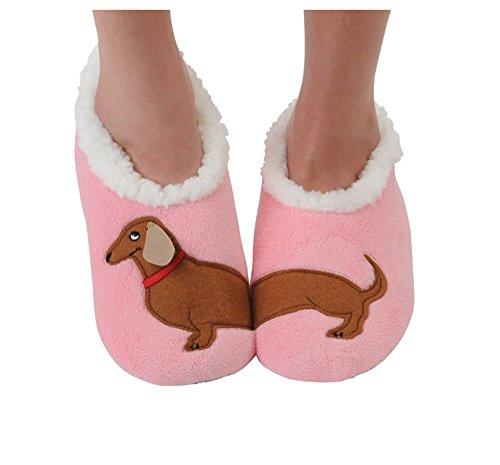 Snoozies Womens Classic Splitz Applique Slipper Socks - Dachshund