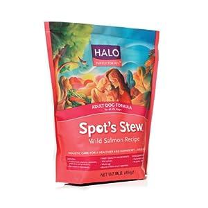 Halo Spot's Stew Natural Dry Dog Food, Adult Dog, Wild Salmon Recipe, 18-Pound Bag