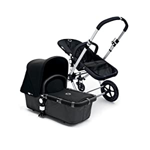 Bugaboo Cameleon Stroller - Dark Grey Base/Black Canvas Tailored Fabric Set