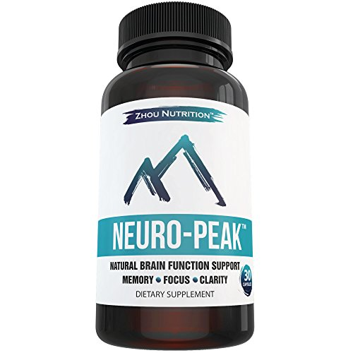 Natural Brain Function Support for Memory, Focus & Clarity - Mental Performance Nootropic - Physician-Formulated To Provide Optimum Blend Of St. John's Wort, DMAE, L-Glutamine & More