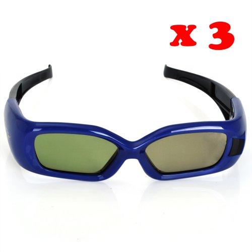 3 x Hi-Shock 3d Brille wie Samsung D-Serien PS43D490A1, PS51D490A1, PS64D8000FJ [2011 & 2012 Version] TV s Aktive 3D Shutter Brille TV´s OVP ** Fashion 3D Brille Kino RealD TV Film passive Brillen