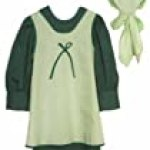 Prairie Schoolgirl Dress Apron & Bonnet Costume Set 1228