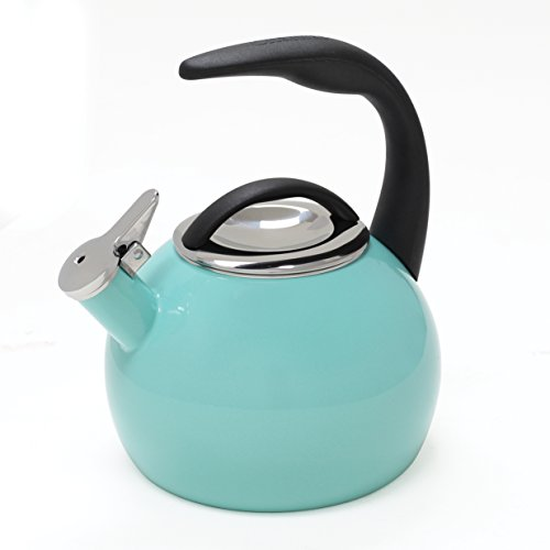 Chantal 37-ANN AQ Enamel on Steel 40th Anniversary Teakettle, 2 quart, Aqua