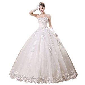 Partiss-Womens-Strapless-Tulle-Wedding-Dress