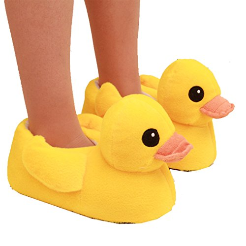 Coxeer® Autumn and Winter Cotton Shoes Household Slippers - Yellow Duck