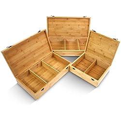 Bamboo Box for Massage Stones
