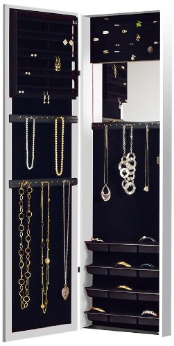 Mirror Jewelry Armoire Door On Wall Mount Cabinet Hanging