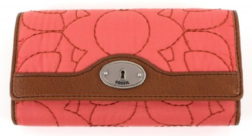 Fossil Key Per Flap Clutch - Rose