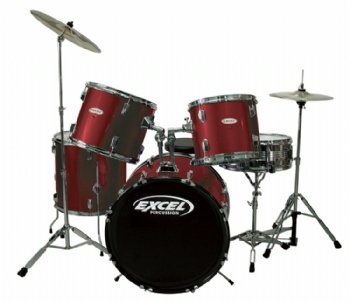 CHEAP Excel 535 Series 5 Piece Drum Set  Wine RedExcel    Discount     Excel 535 Series 5 Piece Drum Set  Wine Red  CHEAP