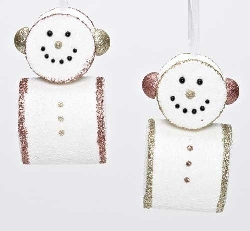 Marshmallow Snowmen Christmas Ornaments