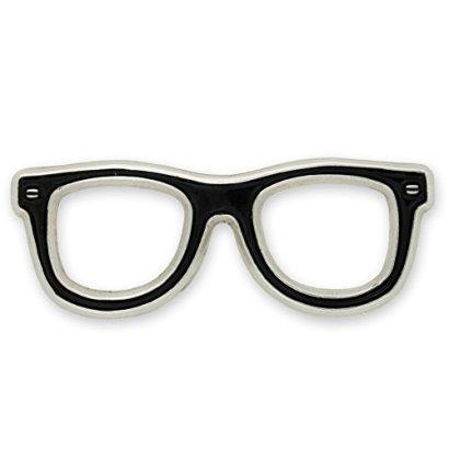 Black-Glasses-Frames-Eyeglasses-Lapel-Pin-100-pack