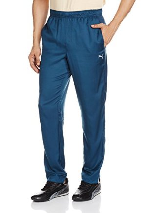 Puma Men's Polyester Track Pants (4056205287971 51413502 Small Bluewingteal)