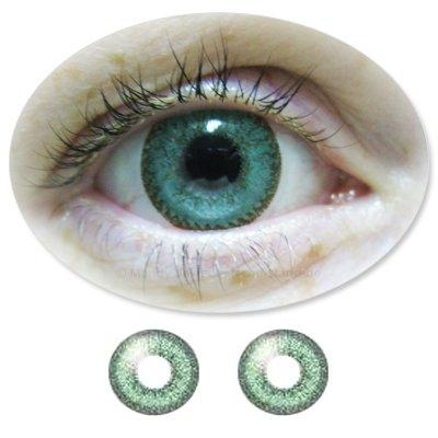 Farbige Kontaktlinsen Monatslinsen Fun Calaview JadeGreen /JadeGrüne ohne Stärken / Dioptrien