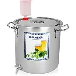 Bielmeier 040002 - Sistema para fermentar cerveza y mosto, con grifo, acero inoxidable
