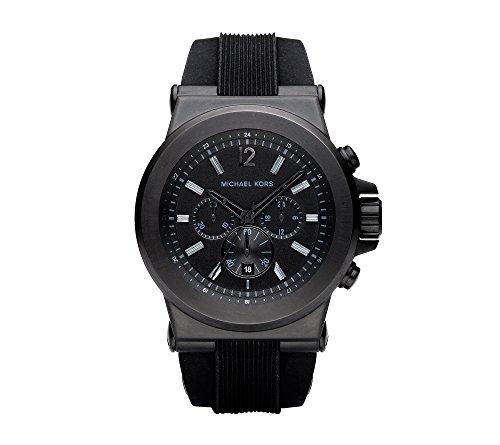 michael kors black stainless steel,video review,silicone watch,(VIDEO Review) Michael Kors Black Stainless Steel and Silicone Watch,