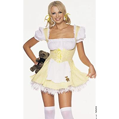 Goldilocks Dress Storybook Sexy Adult Halloween Costume Skimpy Naughty Cute Fairy Tale Outfit