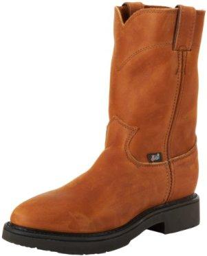 Justin Original Work Boots Men's Double Comfort 4760 Work Boot,Aged Bark,10.5 D US