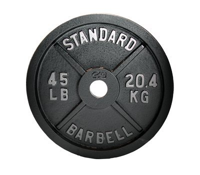 CAP Barbell Gray Olympic Weight Plate single