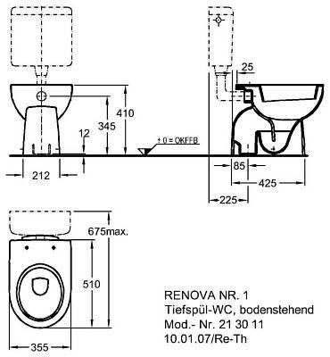 pries keramag renova nr 1 stand wc wei keratect. Black Bedroom Furniture Sets. Home Design Ideas