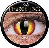 Fasching Kontaktlinsen Farbige Kontaktlinsen crazy Kontaktlinsen crazy contact lenses Dragon Eyes Drachenauge rot gelb schwarz Paar mi 60ml Kombilösung und Kontaktlinsenbehälter mit Verdrehschutz!