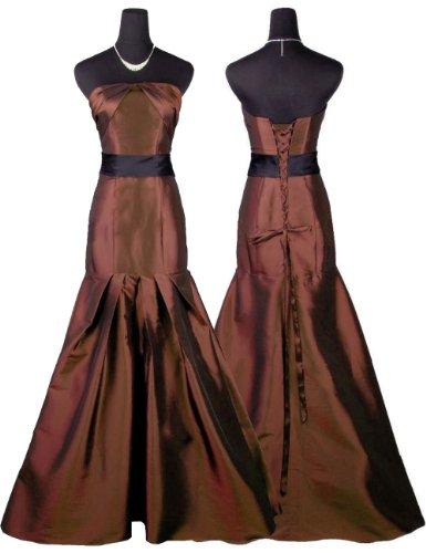 Qpid Showgirl langes Abendkleid mit Bund, Farbe braun, 5425BN (38, braun)