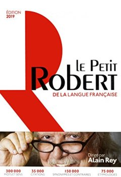 Livres Couvertures de Dictionnaire Le Petit Robert de la langue française 2019