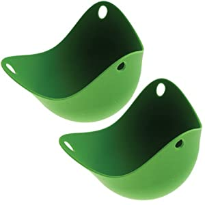 Fusion Brands Poachpod Egg Poacher, Two-Pack, Silicone, Green