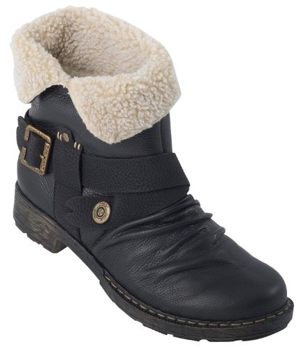 Rieker Rahel 79271-00, Damen Stiefel, Schwarz (schwarz/schwarz/beige 00), EU 40