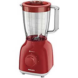 Philips HR2105/50 - Batidora de vaso, 400 W, color rojo