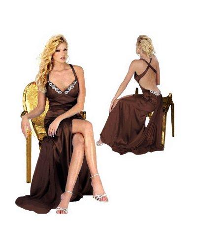 Luxus Abendkleid, Ballkleid, Kleid, Empire Linie, Farbe braun, Gr.40