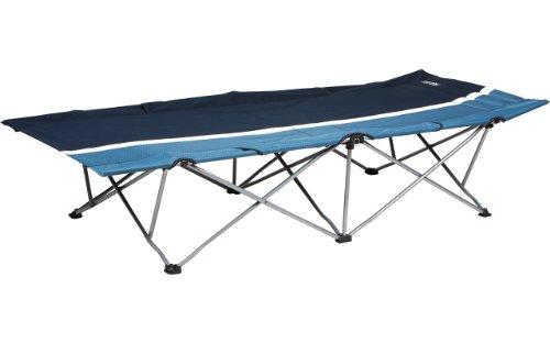 High Colorado Camping-Liege aus Stahl marine-blau-offwhite