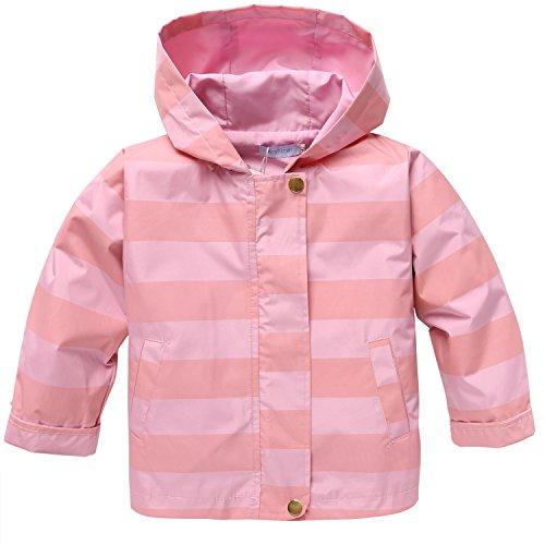 ZEARO Mädchen Kinder Regenmantel Regenjacke Langarm Wasserdicht mit Kapuze Raincoat Mantel Outwear