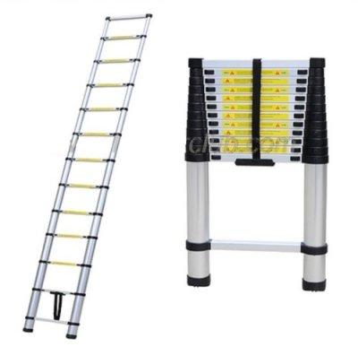 125-Aluminum-TelescopicTelescoping-Loft-Ladder-Extension-Extendable-Portable-by-Generic