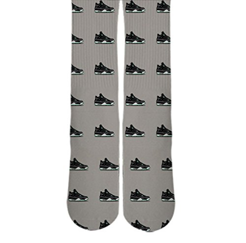 DopeSox Men's Nike Sneaker 3D Printed Sublimated Socks One Size (6-12) White