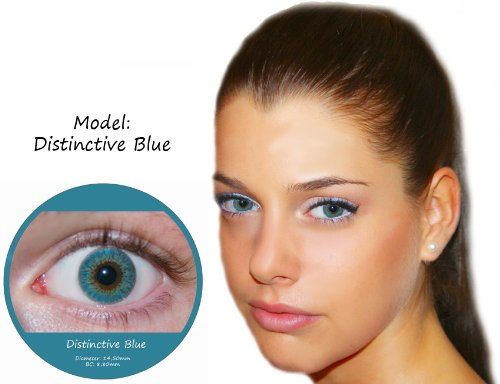 Farbige Kontaktlinsen Blau 3 Monatslinsen Contact lenses Design: Distinctive Blue
