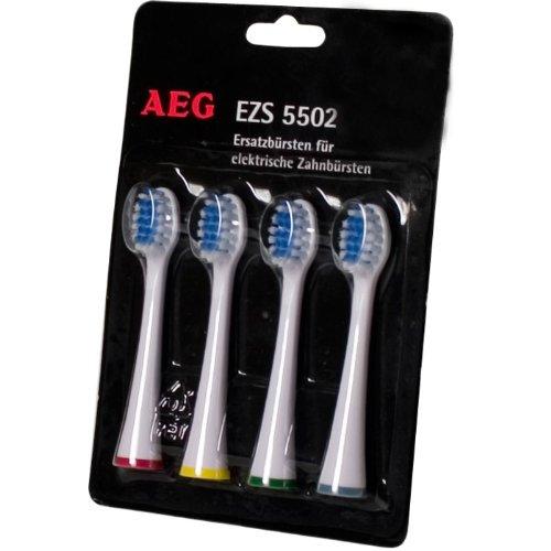 Ersatzzahnbürsten für AEG EZS 5502 Ersatzbürsten 4er Set
