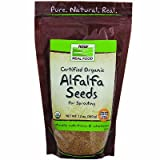 NOW Foods Real Food Certified Organic Alfalfa Seeds -- 12 oz