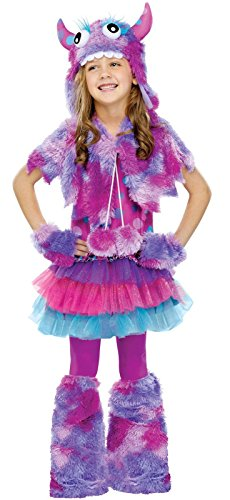 Fun World Polka Dot Monster Girls Costume Medium (8-10)