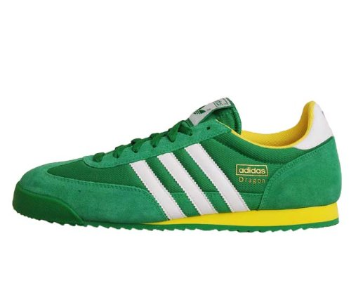42e0d0fd3f63 Adidas Dragon Green Mens Vintage Running Shoes G43675  US size 11.5