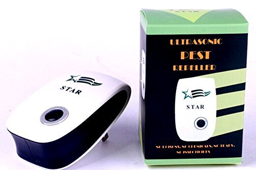 STAR Ultrasonic Pest Repeller, Pest Control Repellent - Effectively Reject Roaches, Spiders, Mosquitoes, Rodents, Insects.