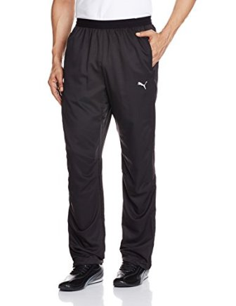 Puma Men's Polyester Track Pants (4056205269205 51388401 Large Black)