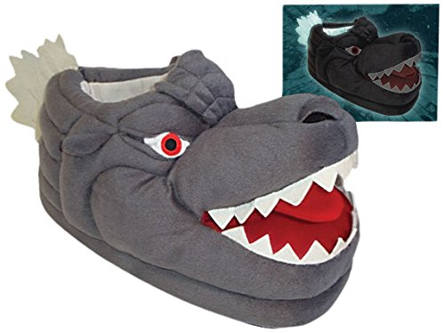 Toy Vault Godzilla Glow in the Dark Plush Slippers
