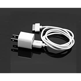 Wall AC Charger USB Sync Data Cable for iPhone 4, 3GS, and iPod
