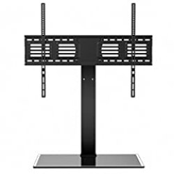 Fitueyes Universal TV Stand with Swivel mount Height Adjustable for 60inch to 80 inch TV FTT107003GB