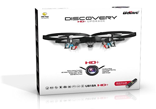 UDI U818A HD+ RC Quadcopter Drone with HD Camera, Return Home and Headless Mode + BONUS POWER BANK