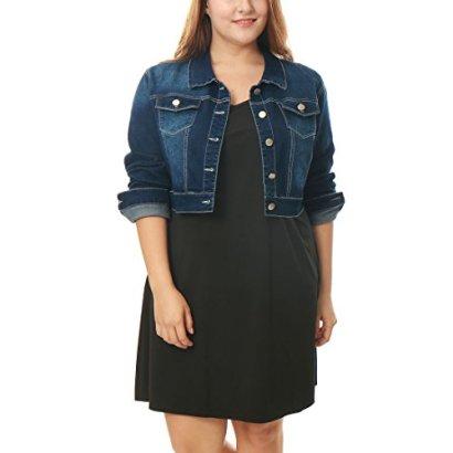 Alya-Women-Plus-Size-Button-Closed-Cropped-Denim-Jacket