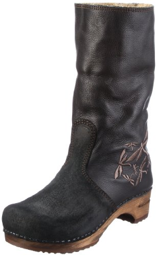 Sanita Bark Boot 456499-2, Damen Stiefel, Schwarz (black 2), EU 42