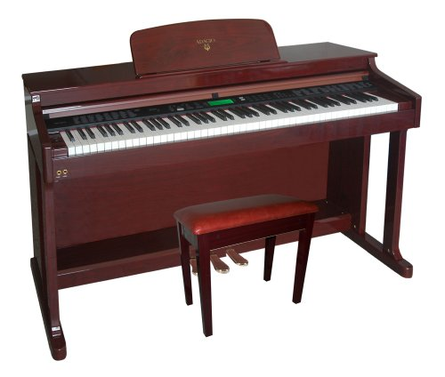 Adagio KDP-8826PM Upright 88 Note Hammer-Action Full Ensemble Console Digital Piano KDP-8826 PM (High Gloss Polished Mahogany Finish)