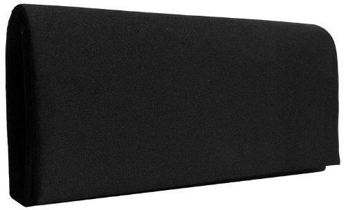 Satin Clutch Tasche Abendtasche, schwarz