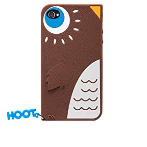 Cute Hoot Owl silicone iphone 4 case/cover